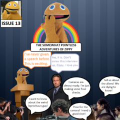 Zippy and Mulder become famous worldwide, prompting Zippy to give an official speech on stage about the adventures he and Mulder get up to.