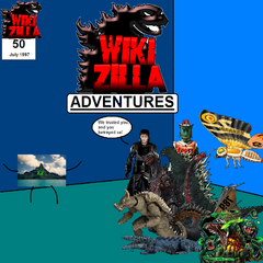 The 50th issue of the <i>Wikizilla Adventures</i> comic.