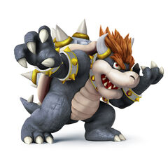 MY BOWSER! Or used to be, cuz I think the skin texture looks like Godzilla 2014. I use pink-haired Bowser now. Eh. Scientifically proven that players wearing black play more aggressively.