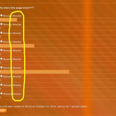 The poll on <a href=