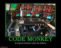 http://www.motifake.com/code-monkey-programers-code-monkey-50cal-demotivational-posters-126215