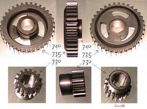 Einzelteile Getriebe 32A B 3