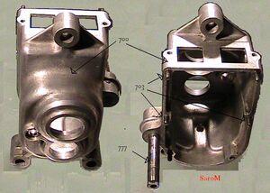 Einzelteile getriebe Getriebegehäuse