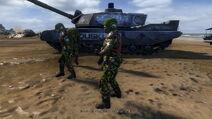 Dusklite troops with tank