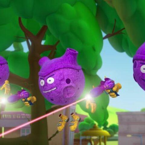 Meteor aliens using their laser gun