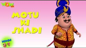 Motu Patlu Cartoons In Hindi - Animated cartoon - Motu ki shaadi - Wow Kidz