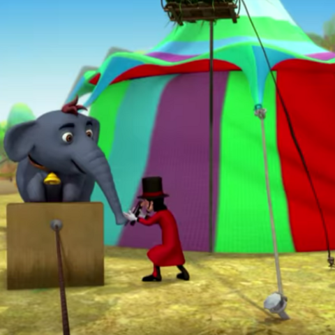 Appu being trained in the circus