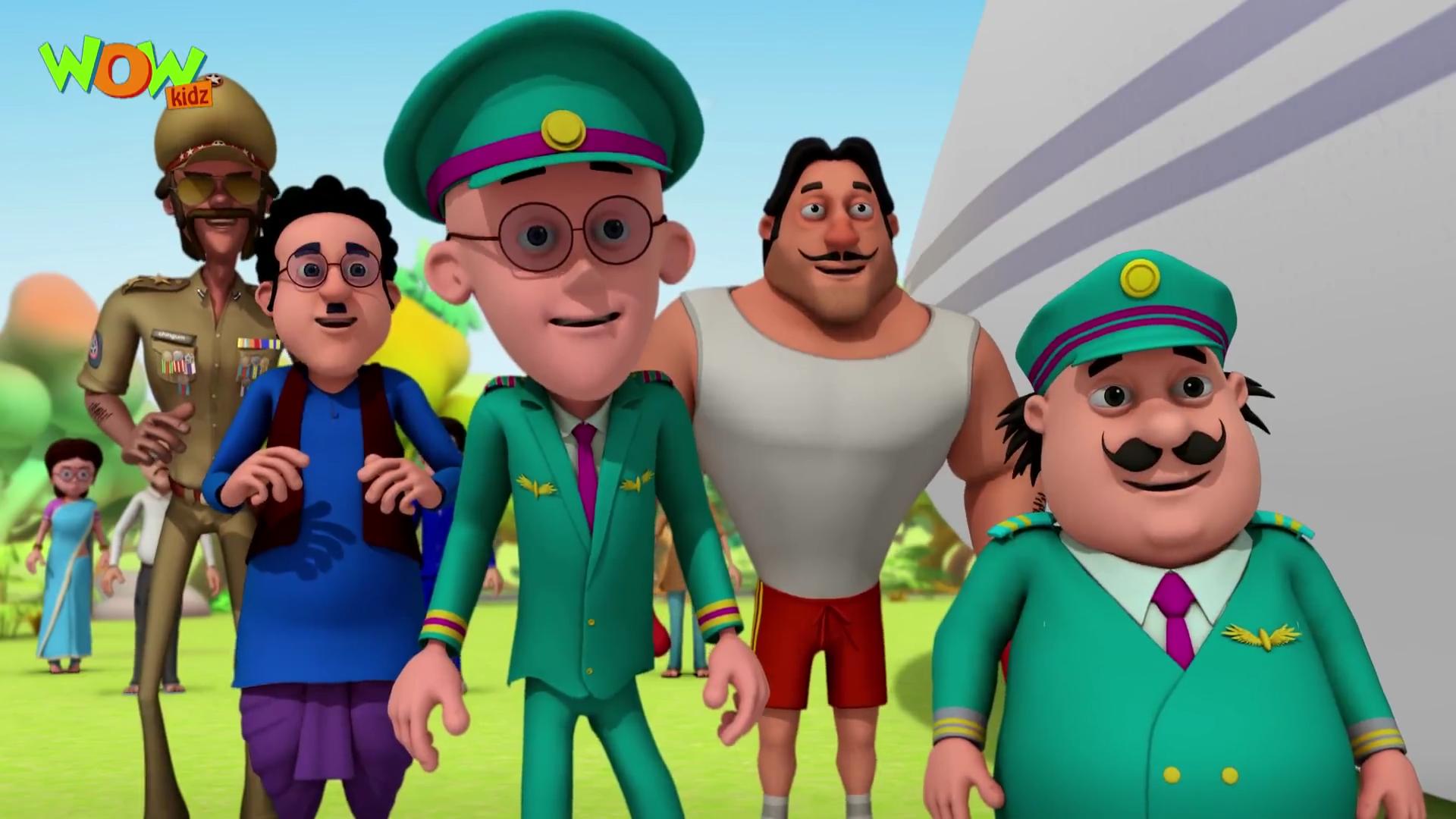 image motu patlu air bus motu patlu in hindi 3d animation