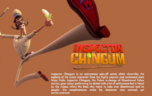 Inspector Chingum Description in Cosmos-Maya website