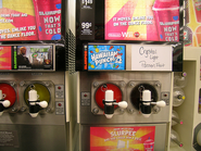 Mountain Dew Kryptonite Ice in a slurpee machine