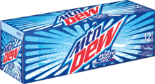 Mountain Dew White Out in 12 pack of cans