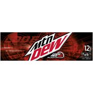 Mountain Dew Code Red 12 pack side design