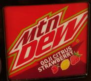 Mountain Dew Goji Citrus Strawberry at a different Maverik