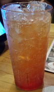 Mountain Dew Berry Burst in a glass