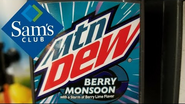 Mountain Dew Berry Monsoon with a Sam's Club logo