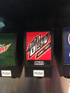 Game Fuel Citrus Cherry between the original Mountain Dew and Pepsi