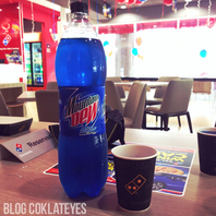 Mountain Dew Blue Shock at Dominos Pizza in Malaysia