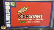Mountain Dew Kickstart Fruit Punch Slurpee label