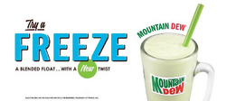 Mountain Dew freeze at A&W restaurants