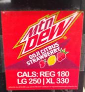 Mountain Dew Goji Citrus Strawberry found in West Virginia