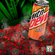 Mountain Dew Mango Heat promotion poster 7-Eleven in Canada