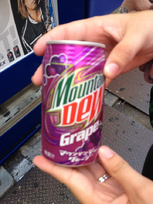 Mountain Dew Grape available in Japan