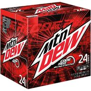 Mountain Dew Code Red 24 pack design
