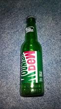 Glass Mountain Dew bottle