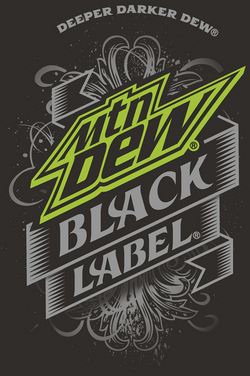 Mountain Dew Black Label Logo