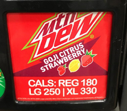 Mountain Dew Goji Citrus Strawberry at another Sheetz convenience store