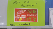 Mountain Dew Goji Citrus Strawberry new fountain Dew