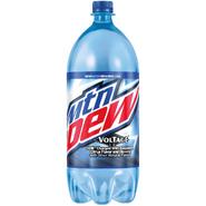 Mountain Dew Voltage in 2 liter bottles with the Dew Nation Rewards label