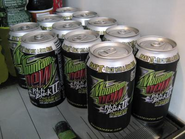 Mountain Dew Pitch Black II in cans
