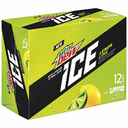 Mountain Dew Ice in alternative 12 pack of 12 oz cans