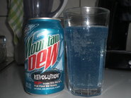 Mountain Dew Revolution in a glass