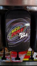 Mountain Dew Pitch Black fountain label