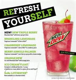 2015 Applebee's Drinks