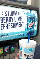 Mountain Dew Berry Monsoon at a different Sam's Club location