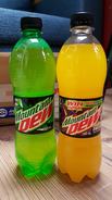 Mountain Dew Passionfruit Frenzy with a Dewcision label on it