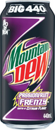 Mountain Dew Passionfruit Frenzy in 440 ml cans