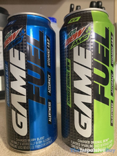 Mountain Dew Amp Game Fuel Berry Blast and Original Dew