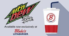 Mountain Dew Pitch Black available now exclusively at Blake's Lotaburger