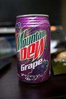 Mountain Dew Grape available in a can