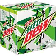 Diet Mountain Dew 24 pack design