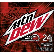 Mountain Dew Code Red 24 pack side design