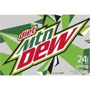 Diet Mountain Dew 24 pack side design