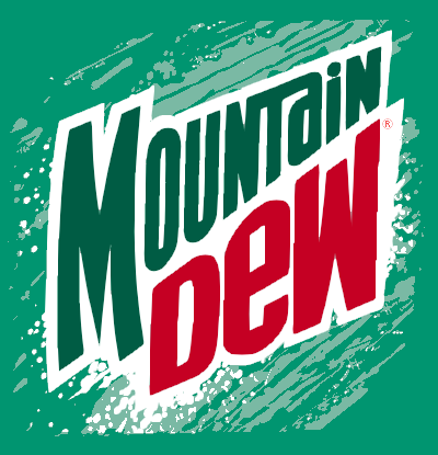 mountain dew can logo history social media la