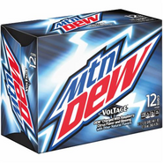 Mountain Dew Voltage in alternative 12 pack cans