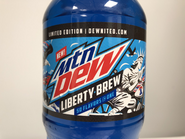 Mountain Dew Liberty Brew in a 20oz bottle (Front side)