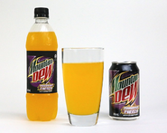 Mountain Dew Passionfruit Frenzy in bottles and cans